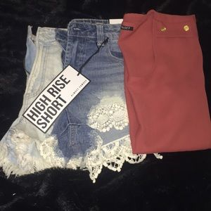 2 Pairs Of Jean Shorts 1 Blouse
